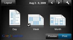 Google Calendar printer app