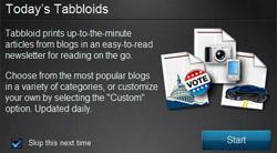 Tabloid printer app