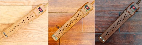 Invisiplug faux wood surge protector