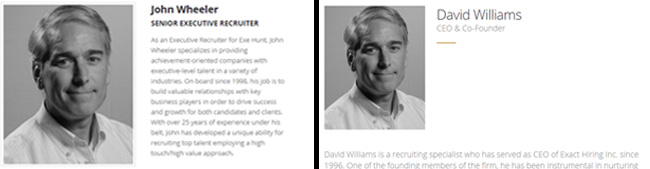 John Wheeler Exe Hunt David Williams Exact Hiring