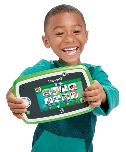 LeapPad 3 Tablet, held by a young boy