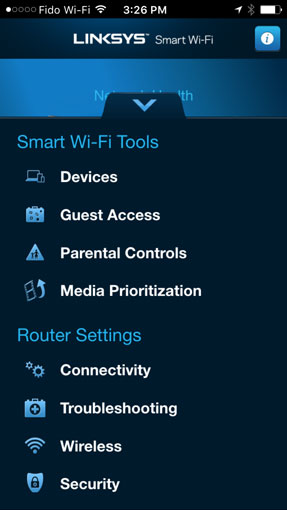 Linksys Smart Wi-Fi app