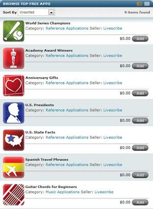 Livescribe Applications