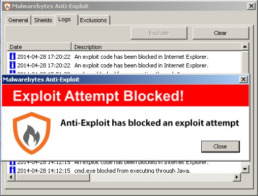 Malwarebytes Anti-Exploit software