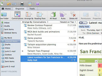 Microsoft Office Mac 2011 Outlook
