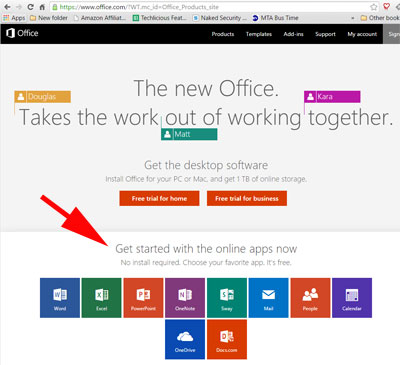 How to find Microsoft Office Online