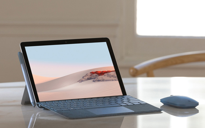 Microsoft Surface Go 2 with optional accessories