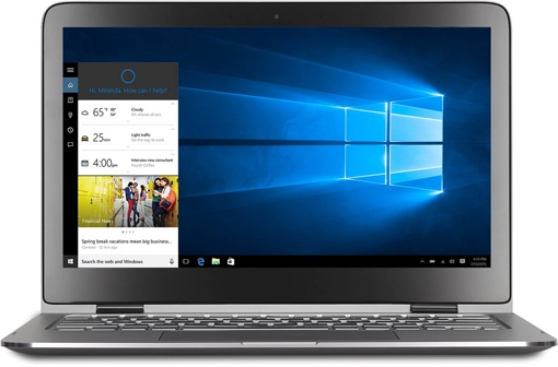 Windows 10 laptop with Cortana