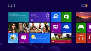 Microsoft Windows 8 Start Page