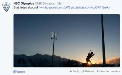 NBC Olympics Twitter account