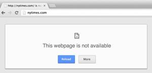 NY Times domain failure