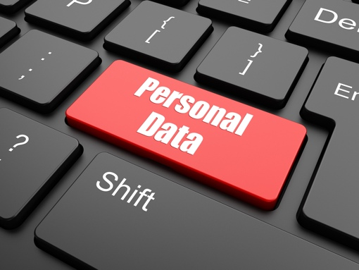 Personal Data keyboard image