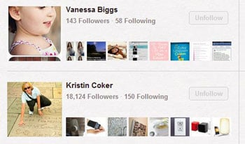 Pinterest Following