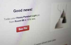 Pinterest price alert