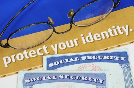 Protect Your Identity image with Social Security cards