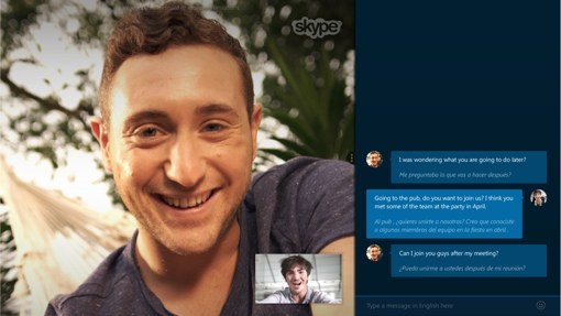 Skype Translator Preview screenshot