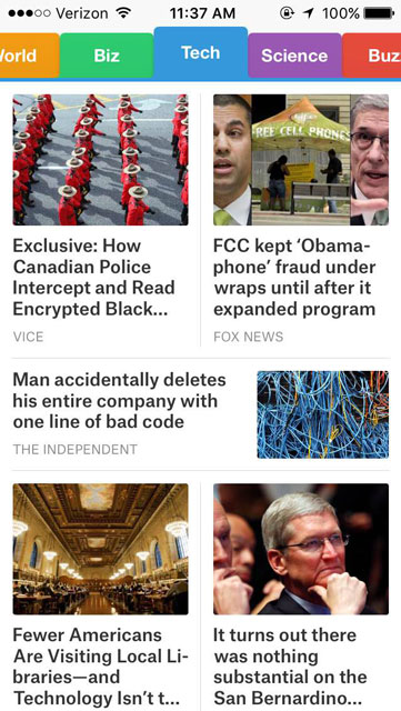 SmartNews Mobile iOS News Aggregator