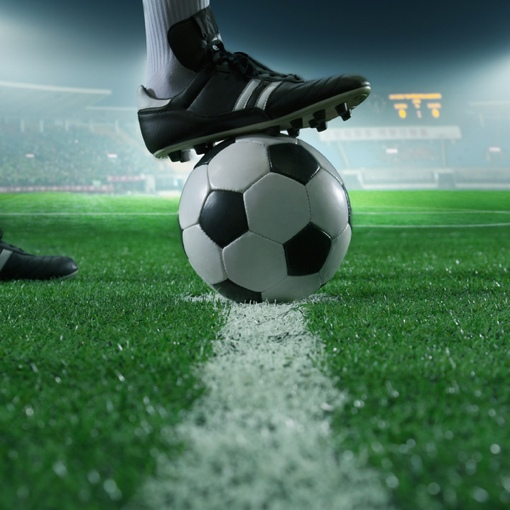 Soccer ball on playing field