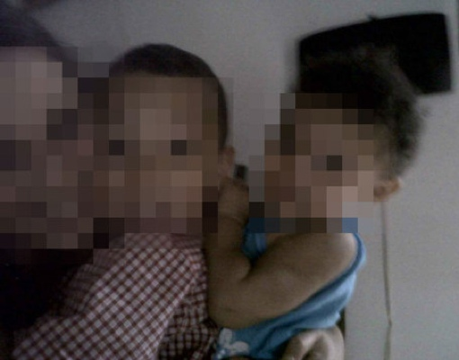 pixelated photo of Sondra Prince and her family