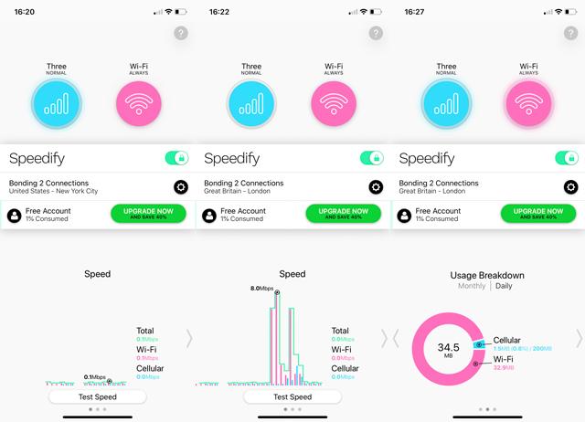 VPN for smartphones: Speedify