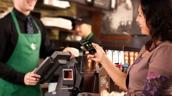Starbucks mobile app in use