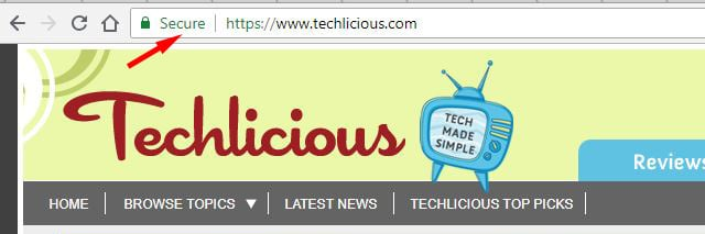Techlicious HTTPS security