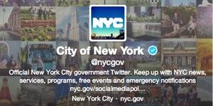 City of New York Twitter account