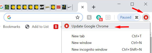 Chrome needs to be updated