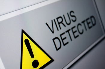 virus detection warning