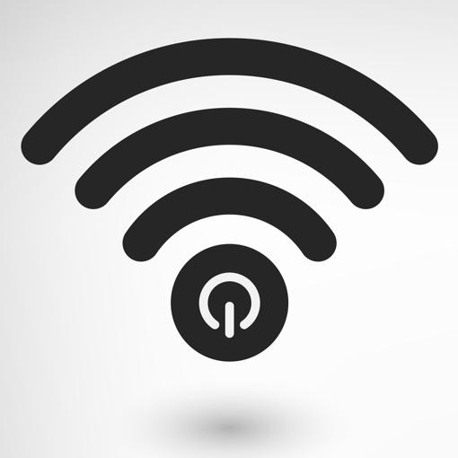 Wi-Fi with a power symbol
