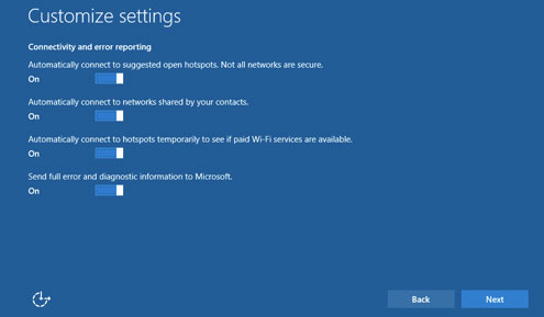 Windows 10 Connectivity Settings