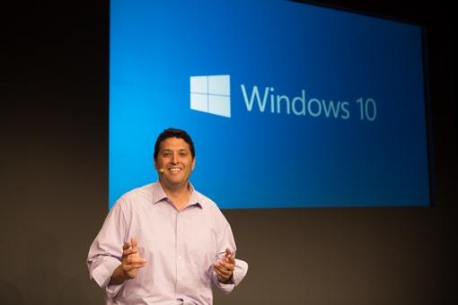 Windows 10 Press Event Photo of Microsoft VP Myerson