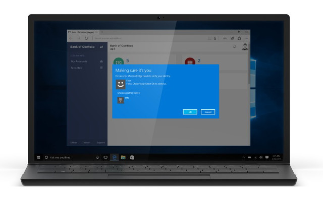 Windows Hello screen