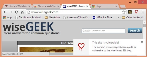 Wisegeek Heartbleed alert