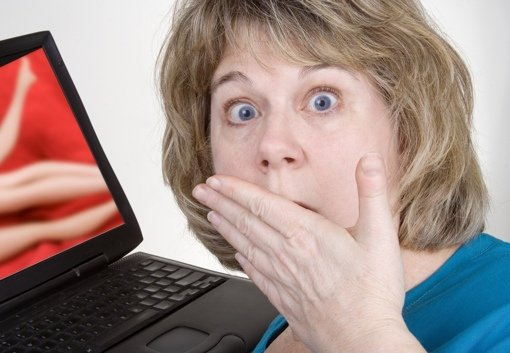 Woman shocked by explicit content