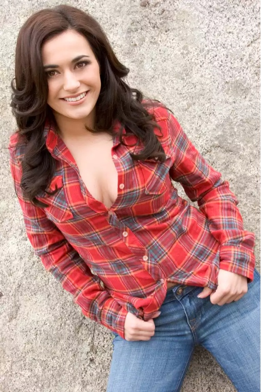 Woman wearing flannel
