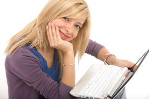 woman with netbook