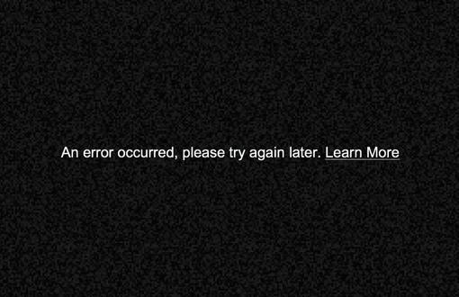YouTube Video Error