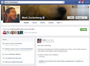 Mark Zuckerberg Timeline hack