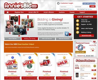 Annie'sBid.com