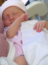 Baby in nursery