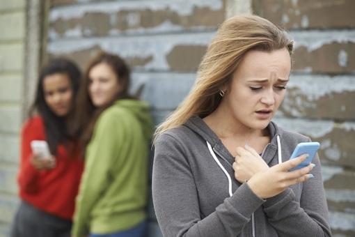 A teen victim of cyberbullying
