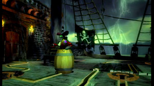 Disney Epic Mickey pirate ship