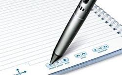 Livescribe Echo paper controls