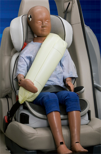 Ford seat belt with airbag built-in