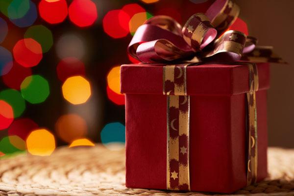 red gift box via Shutterstock