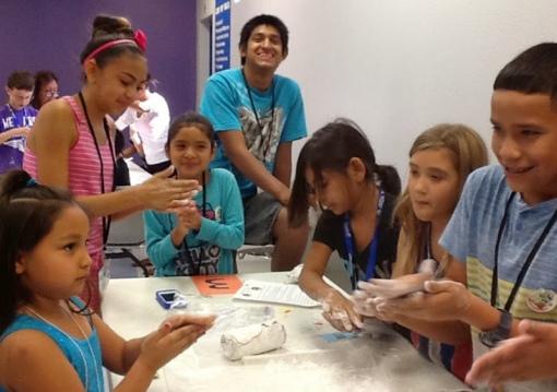 Google Maker Camp photo of kids