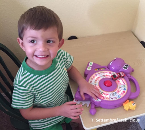 Techlicious Gift Guide: Vtech Spinning Lights Learning Hippo, Ages 18 mo. - 4