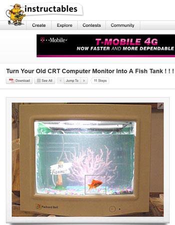 Instructables.com fish tank instructions