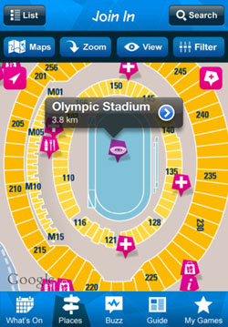 London 2012: Official Join in App